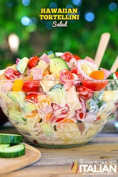Hawaiian Tortellini Salad | The Slow Roasted Italian | Bloglovin'