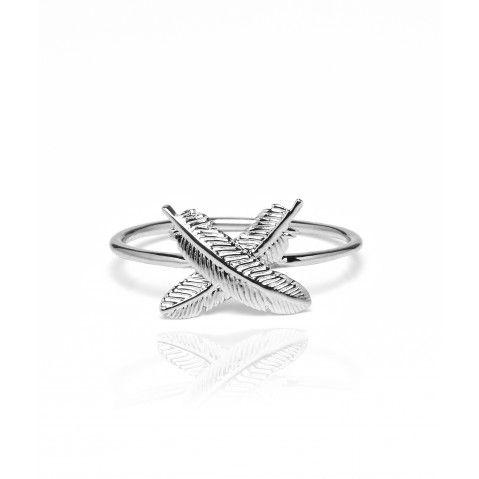JBFKSR01 - Feather Kisses Ring - Designed by New Zealand Designer Boh Runga $99