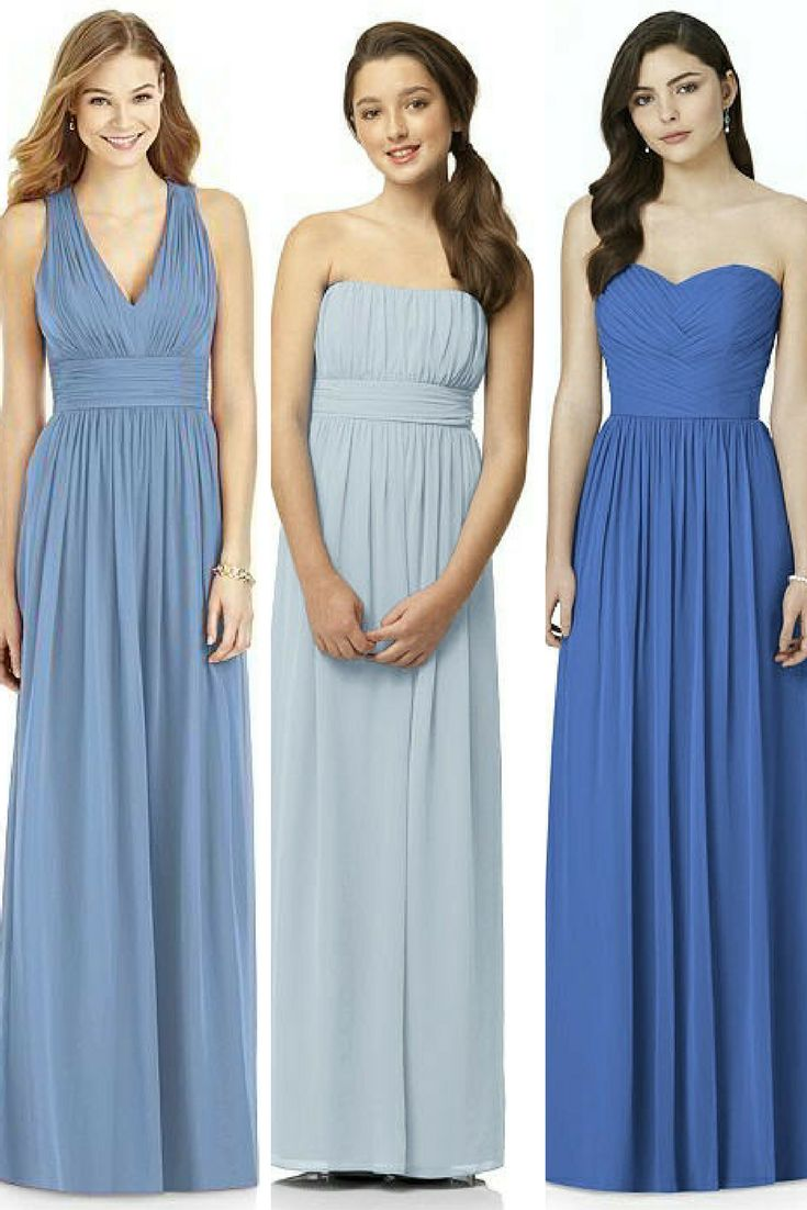 629 best blue bridesmaid dresses weddings images on pinterest hues of blue for your wedding day blue bridesmaid dresses ombrellifo Image collections