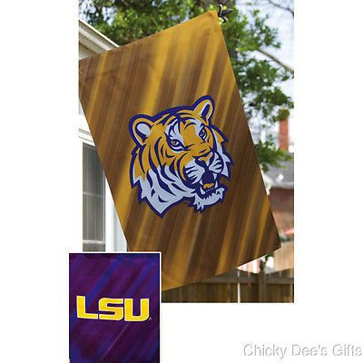 LOUISIANA STATE UNIVERSITY LSU TIGERS Evergreen Garden Flag 2 sided 12.5x18 NEW