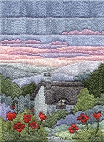 Summer Evening Long Stitch Kit from Derwentwater Designs