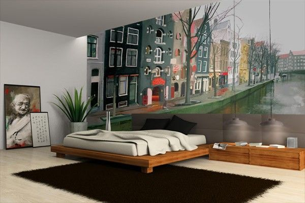 papier peint d coration amsterdam d co papier peint xxl wallpaper mural pinterest papier. Black Bedroom Furniture Sets. Home Design Ideas