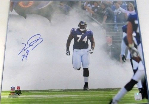 Michael Oher Signed/Autographed Baltimore Ravens 16x20 Entrance Photo SI