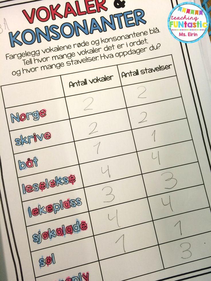 PY 3 - Uke 34; Vi beveger oss videre mot diftonger, ved å undersøke sammenhengen mellom antall vokaler og antall stavelser. Elevene fikk også mulighet til å oppdage at diftonger er to vokaler som sammen lager en bokstavlyd, ved å utforske mønster med antall vokaler, diftonger og stavelser