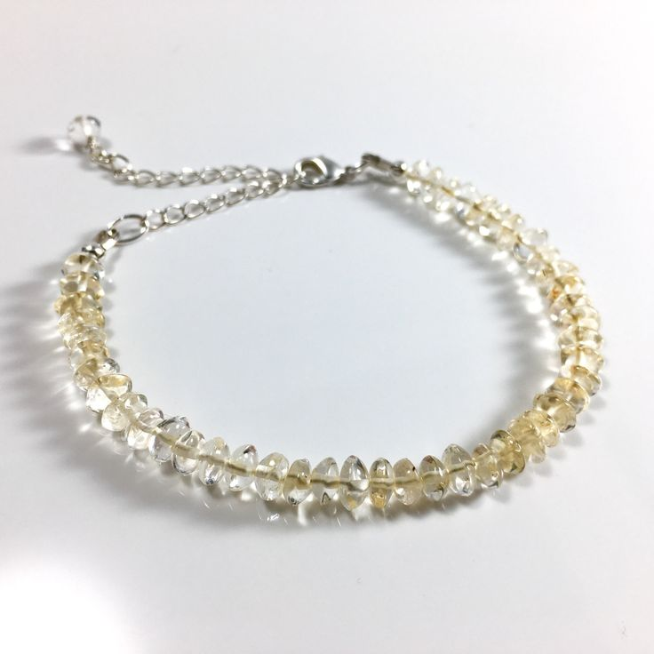 Citrine attracts abundance, prosperity and happiness and this delicate bracelet was made with these intentions in mind.  This bracelet will help the wearer shift their thoughts to positivity and protect you when negative energy attempts to enter your sphere.  Wear this bracelet to attract more joy.