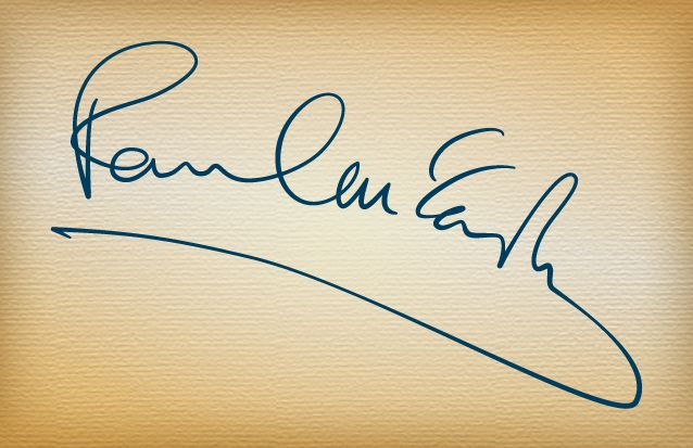 Paul-McCartney. Image of autograph in png (transparent background) and eps (vector) formats can be downloaded at http://master28.ru/zagruzki/faksimile-znamenityh-lyudej Пол МакКартни. Изображение подписи в форматах png (с прозрачным фоном) и eps (вектор) можно скачать по адресу http://master28.ru/zagruzki/faksimile-znamenityh-lyudej