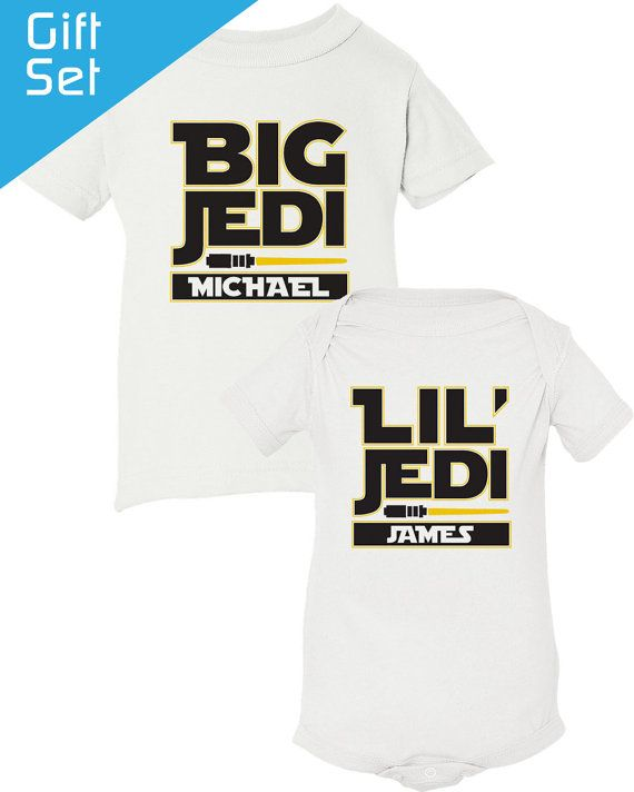Star Wars Big Brother Little Brother Shirt Jedi by ShopPsychobaby