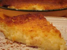 Antjie, die Rooibruin hen: The Impossible Pie - An Old South African recipe.....
