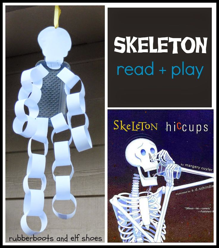 Skeleton Hiccups: a Halloween book and activity    i love this...so easy to do...maybe I can find something besides the styrofoam meat plate
