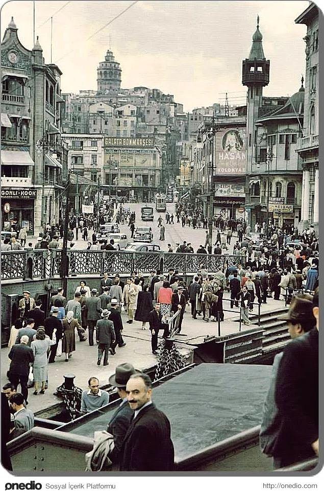 ✿ ❤ Bir zamanlar Istanbul, Karaköy - 1958