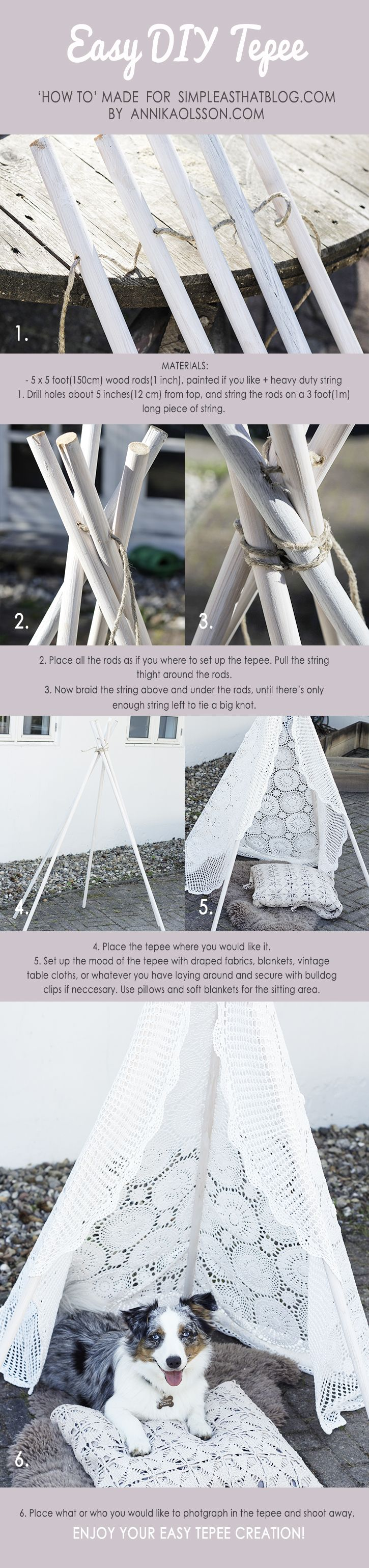 Easy DIY Tepee - simple as that
