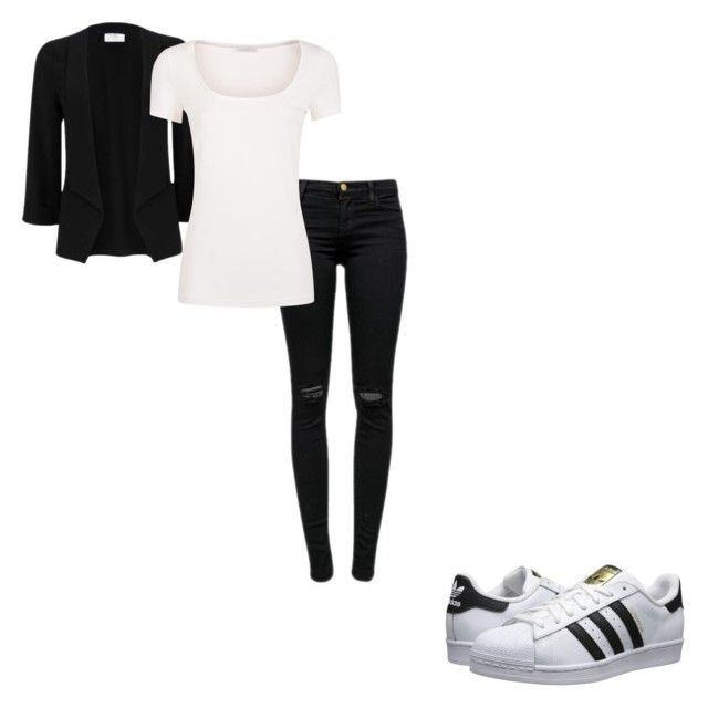 """#409"" by aureeliet on Polyvore featuring adidas Originals, J Brand and La Perla"
