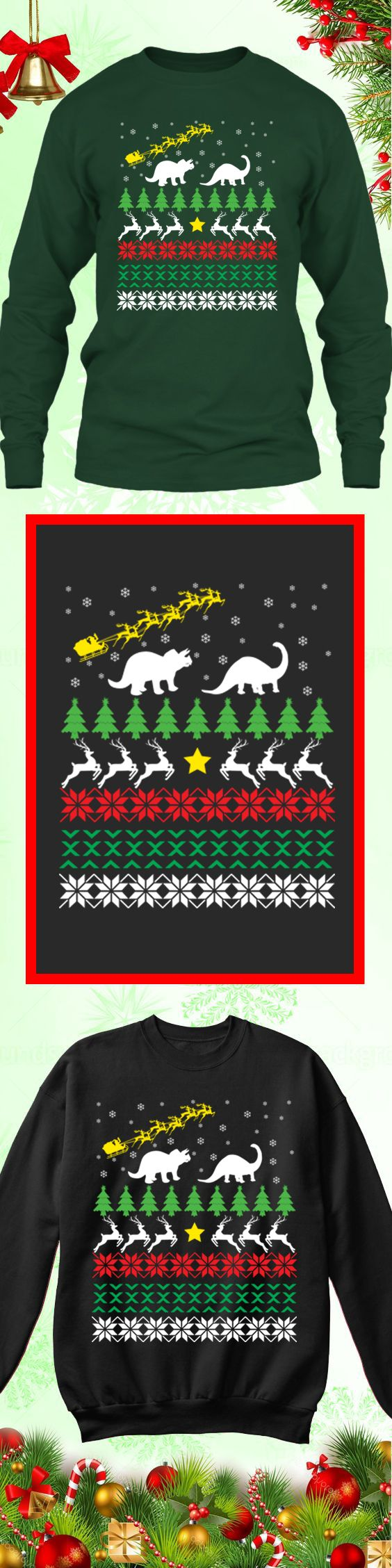 Need a last minute Christmas Gift? Get this limited edition Santa-Dinosaur Ugly Christmas Sweater while supplies last! Buy 2 or more, save on shipping!