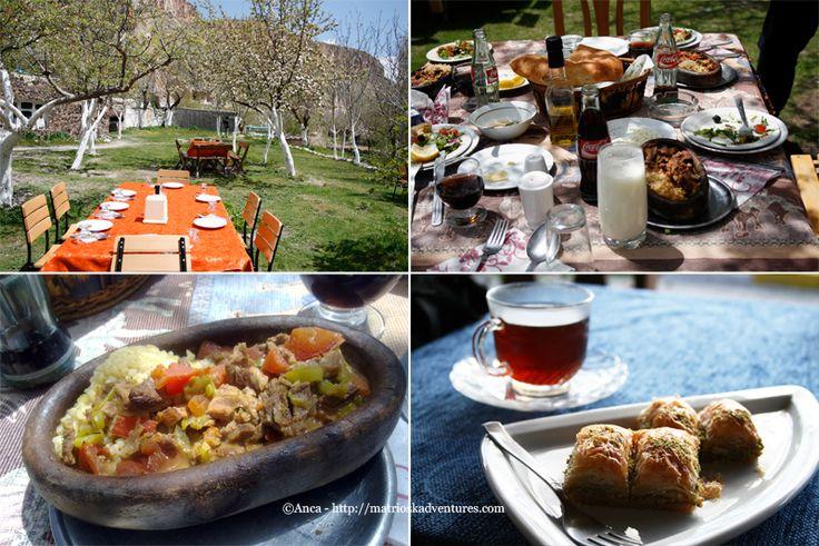 Cibo Cappadocia - pranzo turcoCappadocia Turchia  http://matrioskadventures.com/2014/11/29/tra-sorrisi-e-chiese-scolpite-nella-roccia-tour-valle-soganli-in-cappadocia-turchia-8/