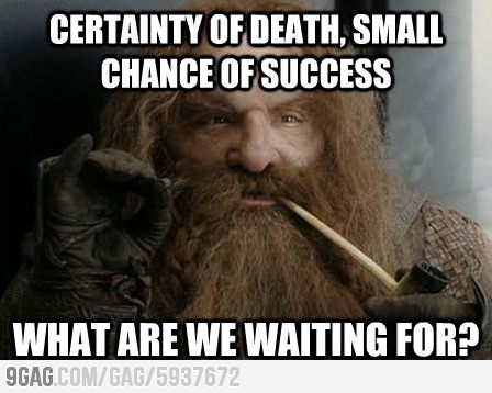 One of the best lines ever!  LOTR has so many...  Especially in ROTK <3