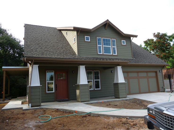 17 best images about exterior paint color schemes on for Dark sage green paint color