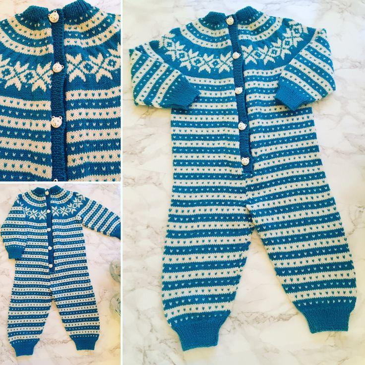 Knitting for a baby boy. Norwegian fana.