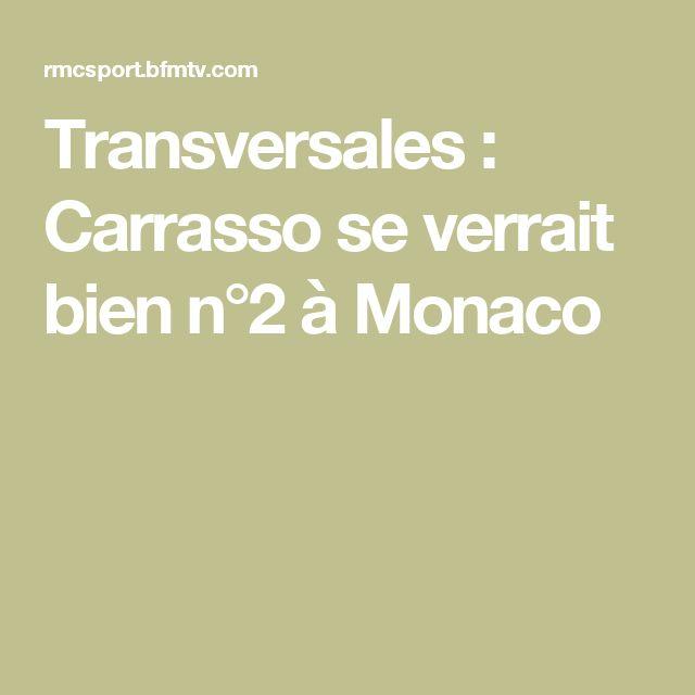 Transversales : Carrasso se verrait bien n°2 à Monaco