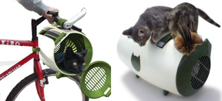 Cocoon Cat Carrier - attached to bicycle