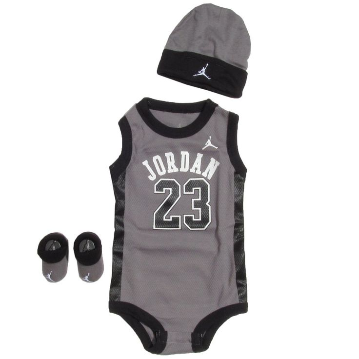 Amazon.com: Jordan Baby Clothes 3 Piece Basketball Jersey ...