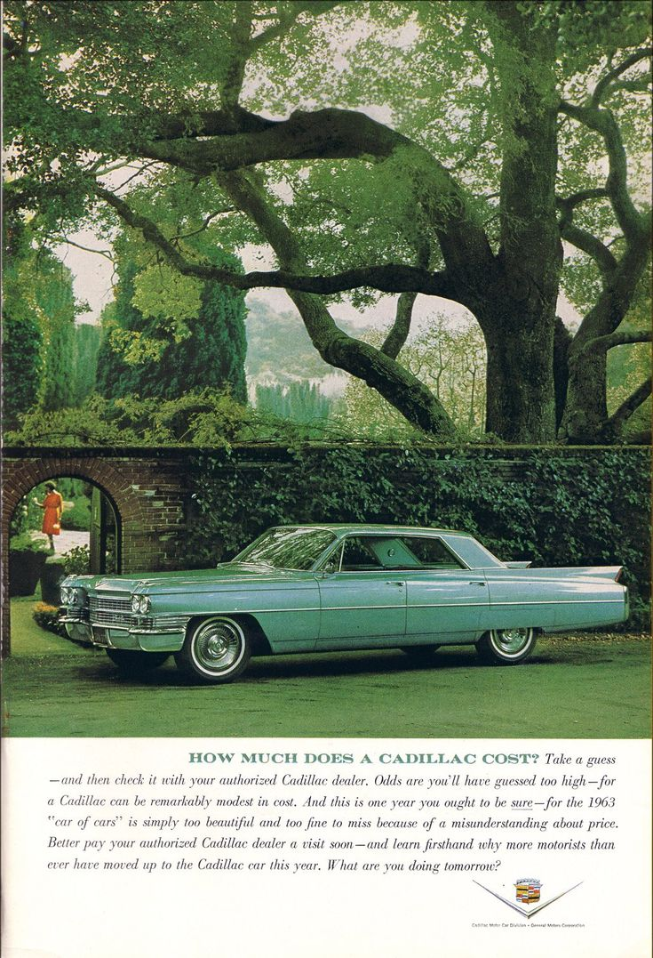 Communicating class cadillac ads from the 1960s