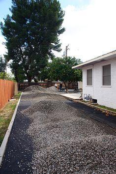 DIY gravel driveway                                                                                                                                                                                 More