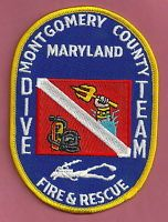 MONTGOMERY COUNTY MARYLAND FIRE DEPARTMENT DIVE RESCUE TEAM PATCH