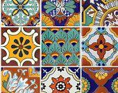 Stickers carrelage pour cuisine salle de bain ou le plancher imperméable espagnol mexicain Mix décalcomanies Tr008 Malibu