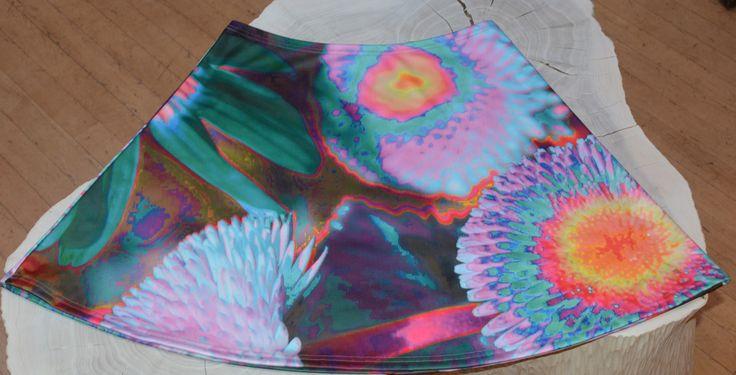 Skirt by Anelia-Art: Flowers Rainbow