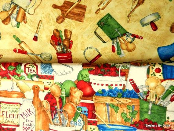 Fabric 2 Yard Bundle Farmhouse Kitchen by DesignsByDona on Etsy, $19.00Fat Quarter
