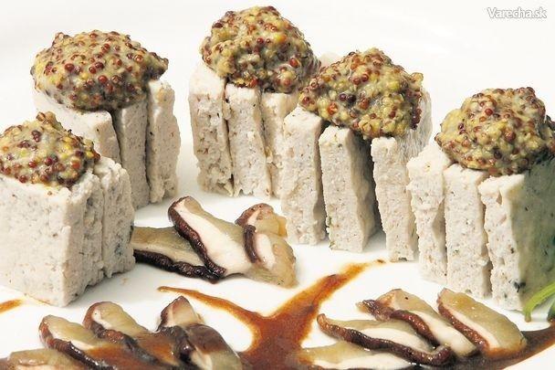 Kuracie kocky s dubákmi a hrubozrnnou horčicou