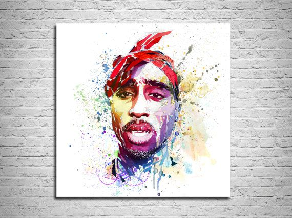 CANVAS PRINT Tupac Art Tupac Poster Canvas Art Print by KatiaSkye