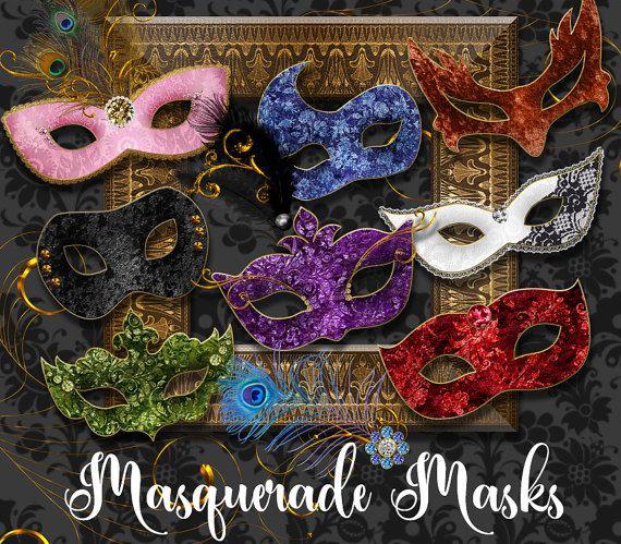 Disfraces máscaras Prediseñadas Mardi Gras por OriginsDigitalCurio
