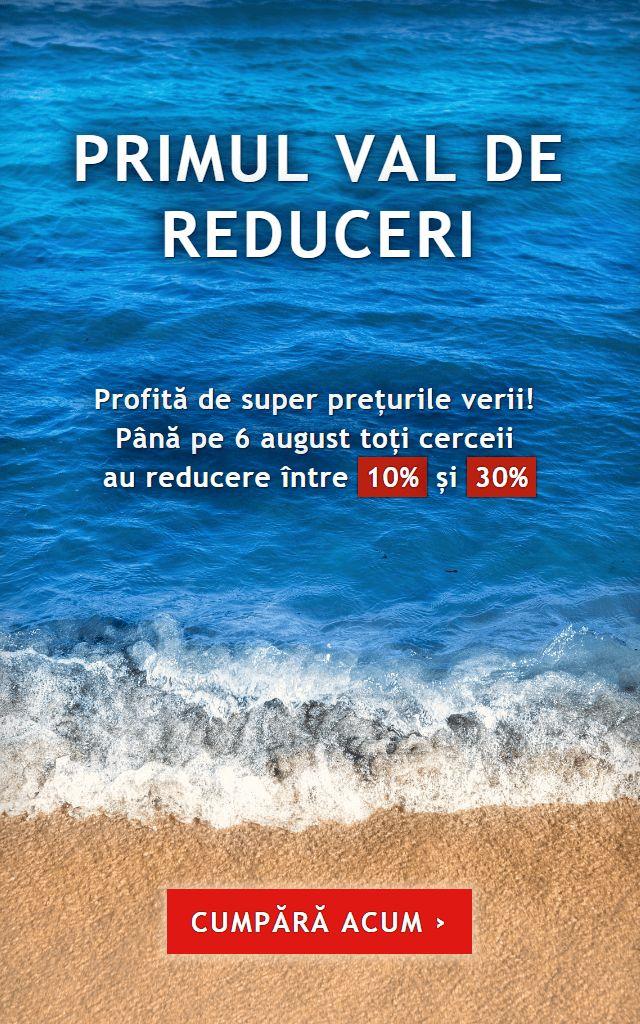 Până pe 6 august toți cerceii au reducere între 10% și 30%.  Profită de super prețurile verii!