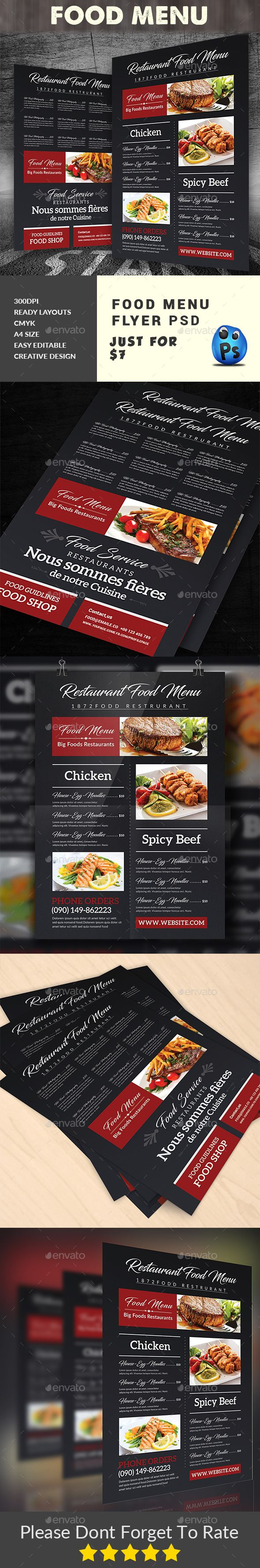 Best Best Food Menu Templates Images On   Food Menu