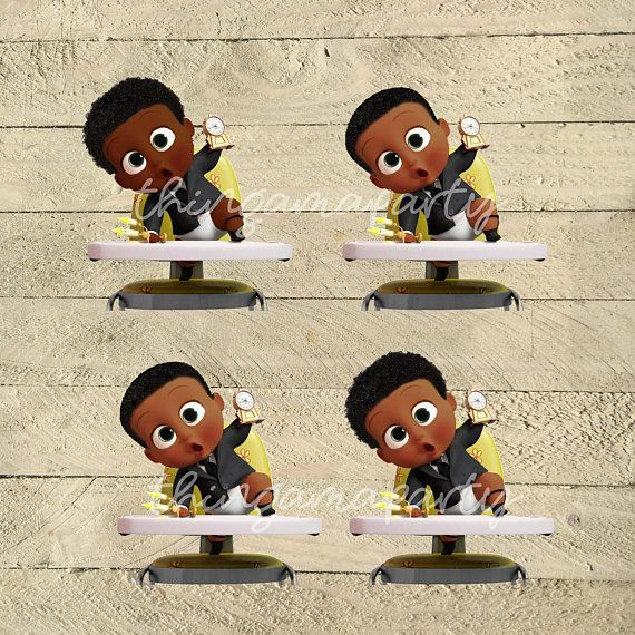 African American Boss Baby Boy 2 Babies Of Color Set