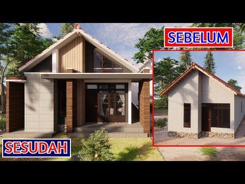 mengubah rumah sederhana jadi rumah modern industrial