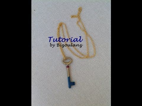 Vintage key necklace tutorial, Κολιέ βήμα-βήμα από παλιό κλειδί - YouTube