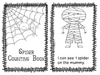 Freebielicious: Spider Counting Book - Kindergarten Lifestyle - Re-pinned by @PediaStaff – Please Visit http://ht.ly/63sNt for all our pediatric therapy pins
