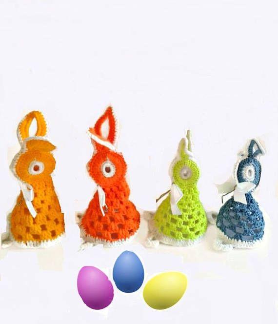 Crochet egg cover Egg cozy Egg cover 3 set Easter egg holder