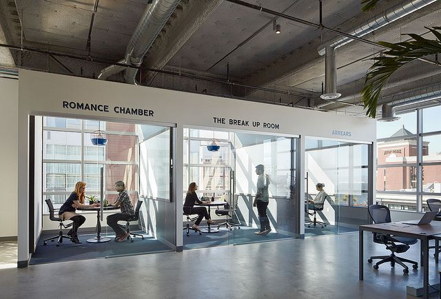 Dropbox HQ. Small Meeting Rooms & Phone Rooms by BoorBridges Architecture, via Flickr (link to download original size)