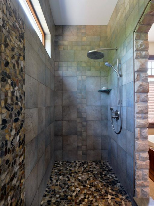 Best Bathroom Pebble Tile And Stone Tile Ideas Images On