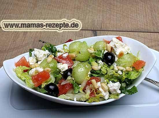 Rezept Melonen-Käse-Salat auf Mamas Rezepte Homepage