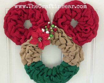 Mickey Mouse wreath Burlap wreath Countdown to by TheCraftinBear