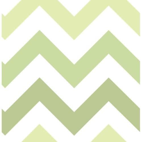 Brewster Zig Zag Peel and Stick Wallpaper Kids Zig Zag Wall Pops Wallpaper (green zig zag) (Vinyl)