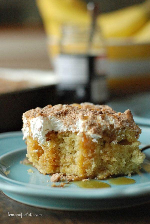 Banana Toffee Poke Cake | Lemons for Lulu for Melanie Makes