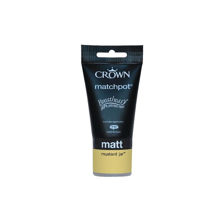 Find Crown Breatheasy Standard Mustard Jar - Matt Emulsion Paint - 40ml at Homebase. Visit your local store for the widest range of paint & decorating products.