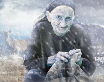 """""""In Irish and Scottish mythology, the Cailleach, also known as the Cailleach Bheur, is a divine hag, a creatrix, and possibly an ancestral deity or deified ancestor. The word Cailleach means 'hag' in modern Scottish Gaelic. The Cailleach is seen as a Seasonal Deity or Spirit, ruling the winter months between Samhainn (1 November or first day of winter) and Bealltainn (1 May or first day of summer)."""" (Pin links to artist.)"""