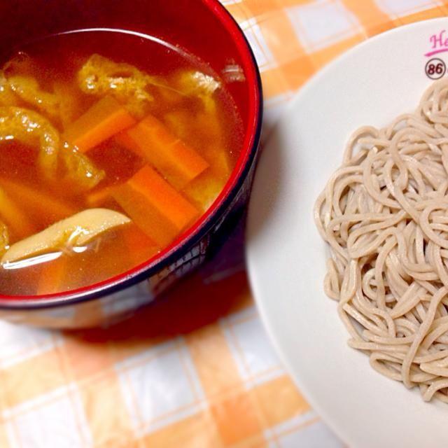 残りものを使ったつけ汁でお蕎麦をいただく、ヘルシーでカンタンな(手抜きな・・・)一品です( ^ω^ ) - 35件のもぐもぐ - つけそば by micciewaori