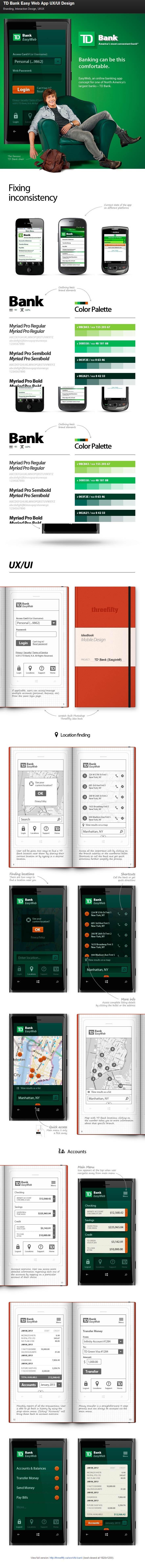 TD Bank Easy Web #App #UX #UI Design